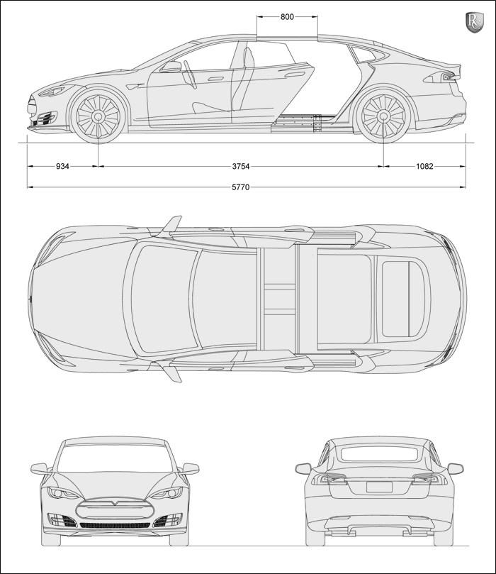 Tesla Model 3 Dimensions >> Remetz Chassis Tesla Model S