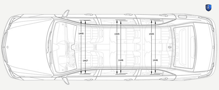 Dimensions of the stretched Mercedes-Benz E-Class 212 Sixdoor