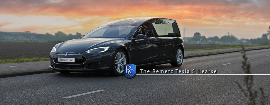 Remetz Tesla hearse - WORLD FIRST